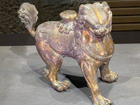 獅子像-五代~遼時代-銅造鍍金-中国の仏像-東洋館-東京国立博物館-東京