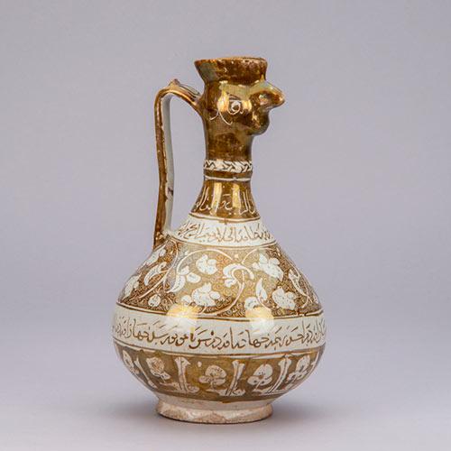 ラスター彩鳥首水注さいちょうしゅすいちゅう イラン中部 13世紀前半 イル・ハーン朝時代 陶器