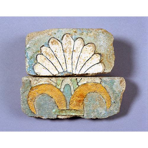 彩釉煉瓦断片さいゆうれんがだんぺん イラン、スーサ遺跡 前520 - 前420年頃 アケメネス朝時代 施釉陶器
