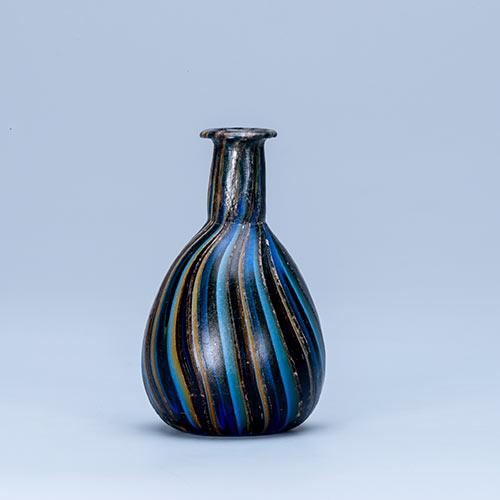 リボン装飾瓶そうしょくびん 東地中海沿岸域 1世紀前半 ローマ時代 ガラス