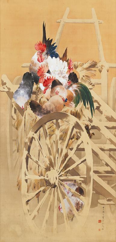《雪中群鶏図》明治26年(1893) 東京国立博物館蔵 Image: TNM Image Archives  [展示期間:8月9日(月)~8月29日(日)]