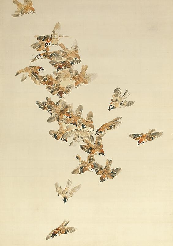 《群雀之図》(部分)明治33年(1900) 個人蔵  [後期展示]