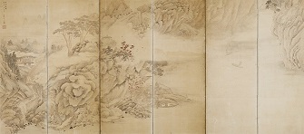 【重文】彭城百川「山水図屏風」東京国立博物館 Image:TNM Image Archives 展示期間:令和4年1月18日~1月30日