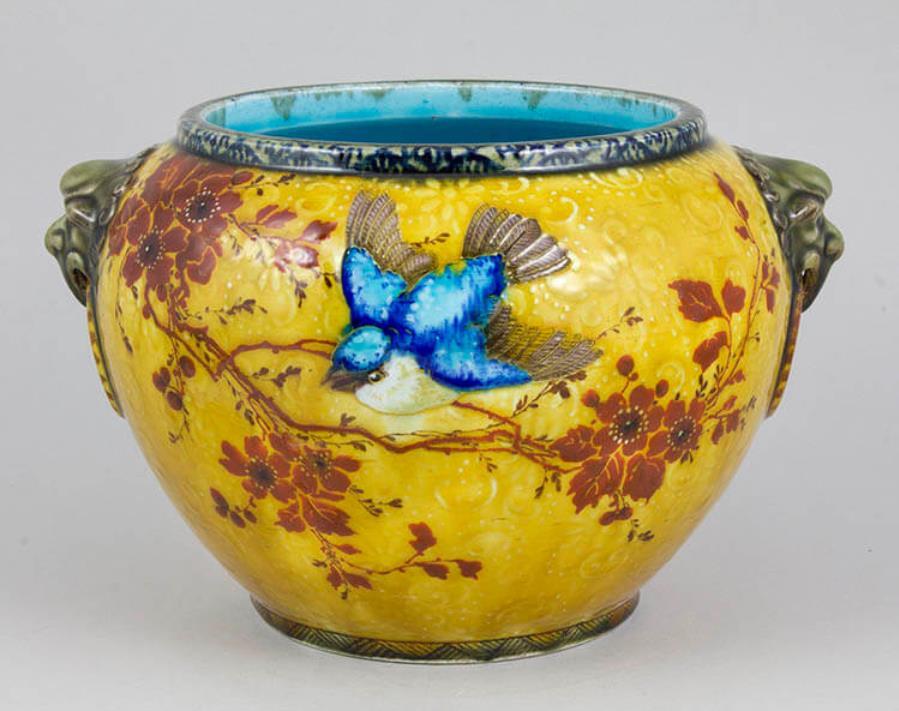 《花鳥文花器》ジョゼフ=テオドール・デック 1880年頃 ブダペスト国立工芸美術館蔵