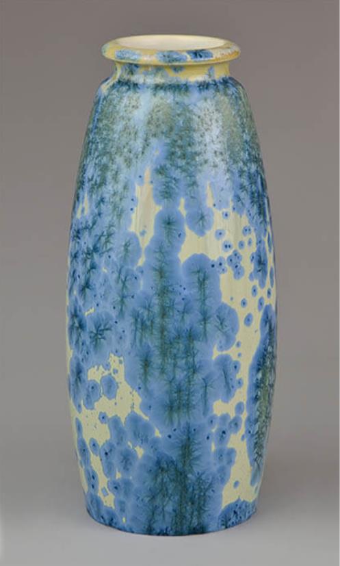《結晶釉花器》ジョルナイ陶磁器製造所 1902年 ブダペスト国立工芸美術館蔵