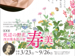 「枕辺の野花—西田幾多郎の妻・寿美(ことみ)」石川県西田幾多郎記念哲学館