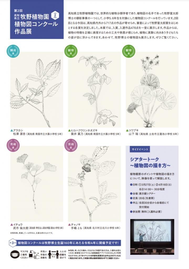 「第2回 高知県立牧野植物園植物図コンクール作品展」高知県立牧野植物園