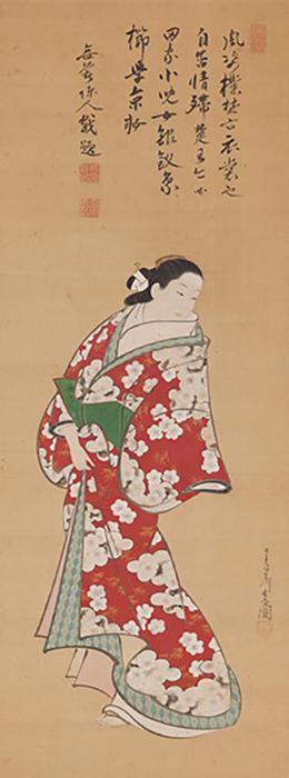宮川長春 《立ち美人》 正徳~享保年間(1711-36) 絹本着色一幅