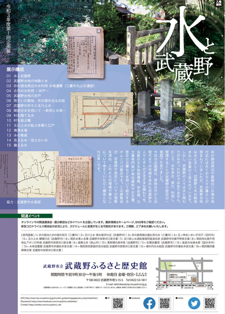 「水と武蔵野」武蔵野市立武蔵野ふるさと歴史館