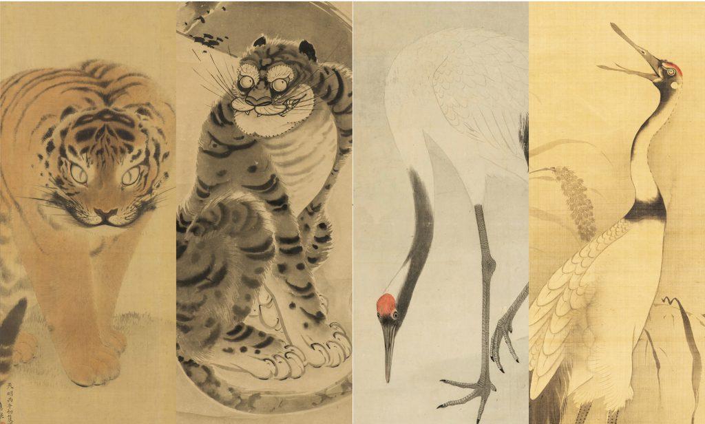 蕪村の最晩年作の金屏風である「老松図屏風」や色鮮やかな「茶筵酒宴図屏風」