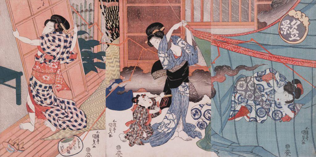 歌川国貞「夕立景」後期