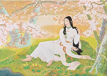 木華開耶媛 1929年(昭和4) 京都府立堂本印象美術館蔵