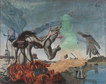 《たそがれの美食》1951年 キャンバス・油彩