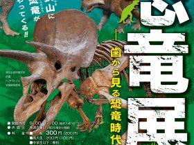 開館30周年記念特別展・令和3年度夏期企画展「恐竜展—歯から見る恐竜時代—」狭山市立博物館