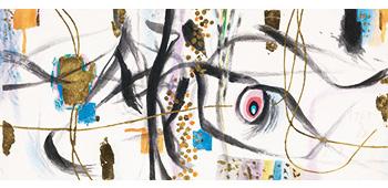 手をつなぐ(万博緞帳下絵) 1969年(昭和44) 京都府立堂本印象美術館蔵