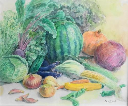 市場の夏野菜 内海 博司