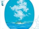 「青いろの世界 いちだみなみ展」長島美術館