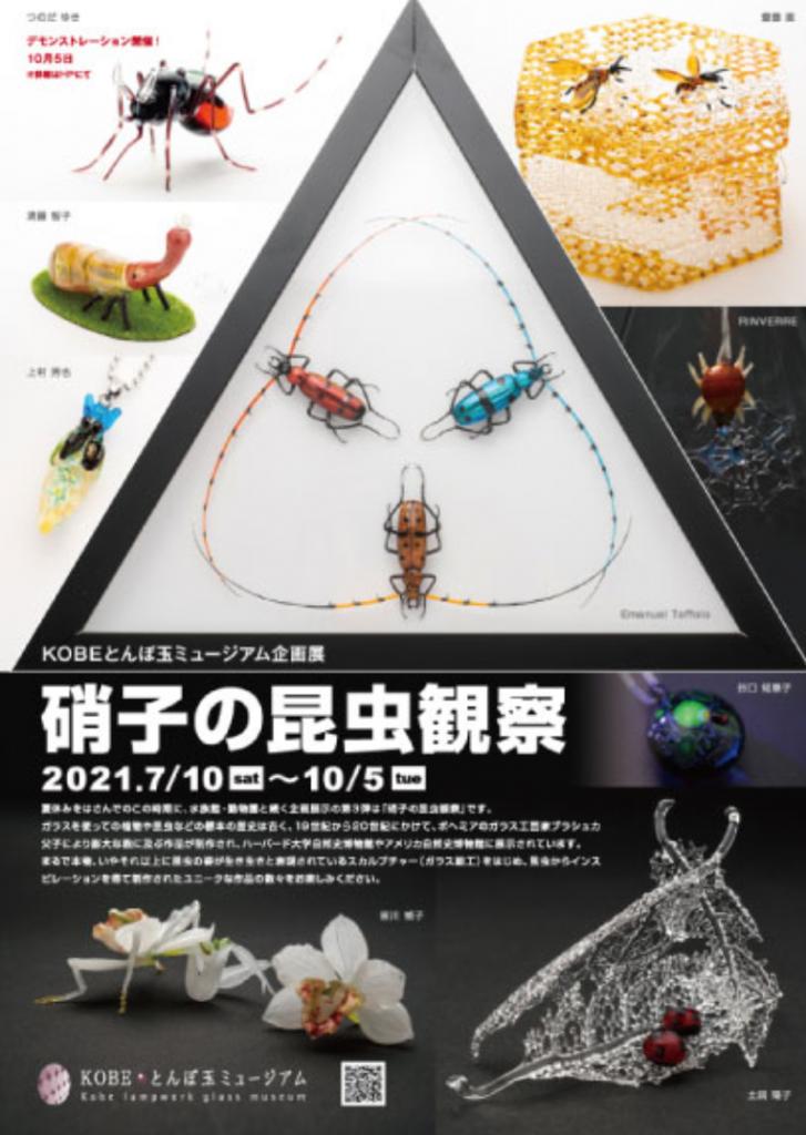 企画展「硝子の昆虫観察」KOBEとんぼ玉ミュージアム