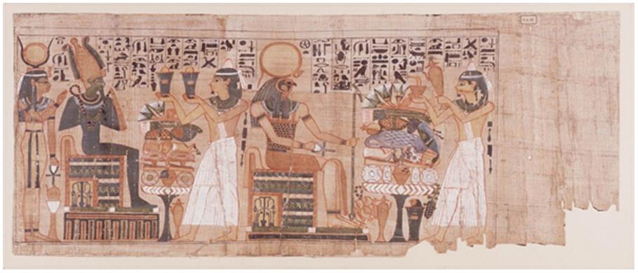 《パディコンスの『死者の書』》第3中間期 第21王朝(前1076-944年頃) パピルス ライデン国立古代博物館蔵