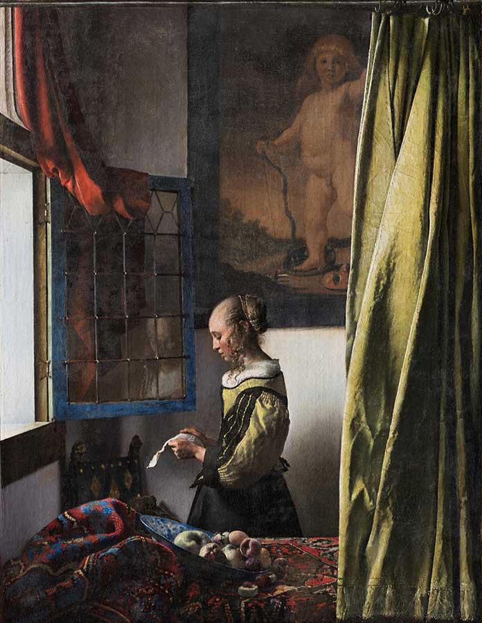 ヨハネス・フェルメール 《窓辺で手紙を読む女》(修復後) 1657-59年頃 ドレスデン国立古典絵画館 © Gemäldegalerie Alte Meister, Staatliche Kunstsammlungen Dresden, Photo by Wolfgang Kreische