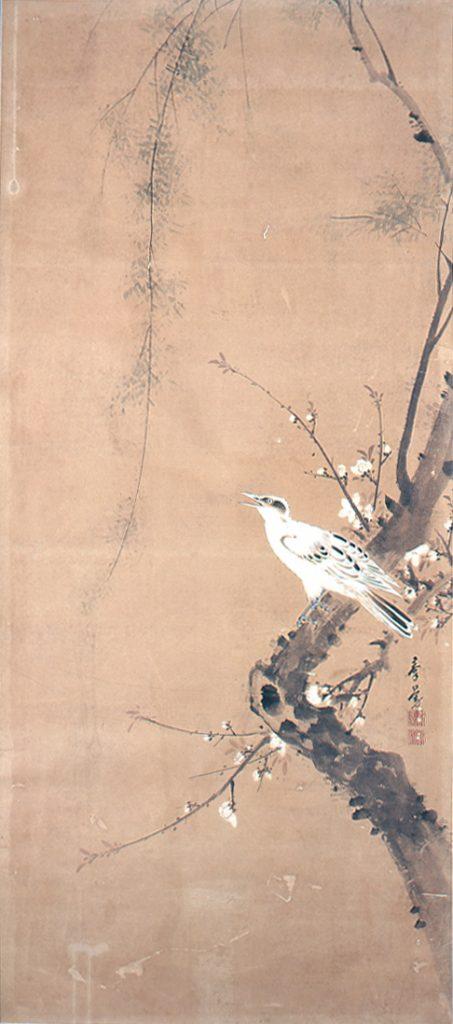 矢島群芳《四季花鳥図》4 福対のうち春 高崎市タワー美術館蔵 前期展示