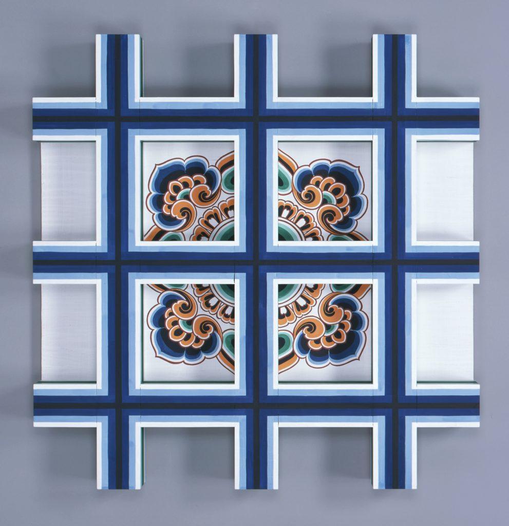 唐招提寺金堂 身舎天井彩色復原模型 (唐招提寺蔵)