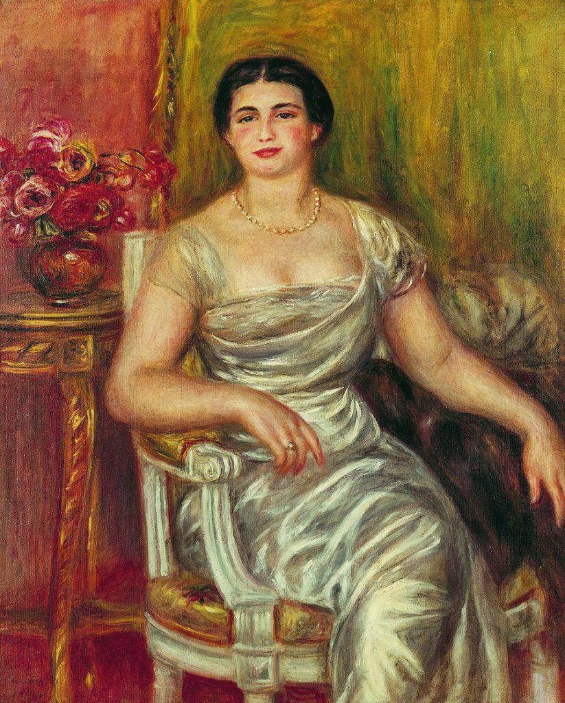 オーギュスト・ルノワール ≪詩人アリス・ヴァリエール=メルツバッハの肖像≫ 1913年 ASSOCIATION DES AMIS DU PETIT PALAIS, GENEVE,