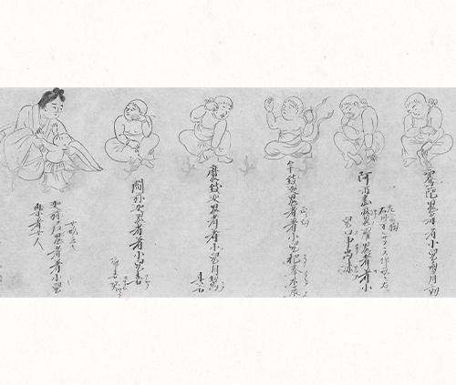十五鬼神図巻(部分)