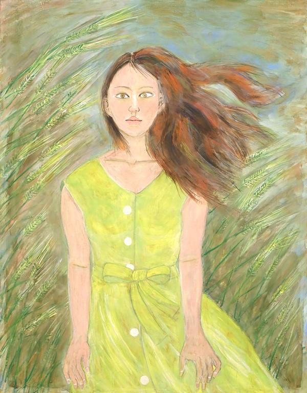 庄田達生「初夏の風」2020(令和2)年 「第10回石州和紙に描いた日本画展」出品作品