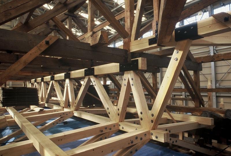 唐招提寺金堂 平成修理の構造補強