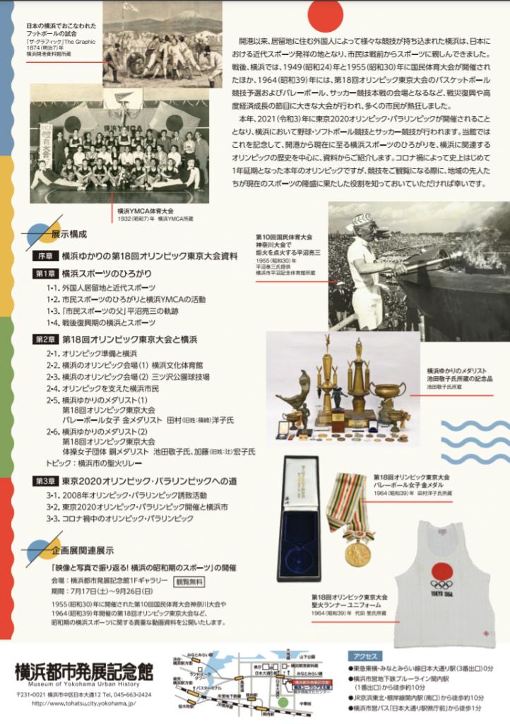 「スポーツの祭典と横浜」横浜都市発展記念館