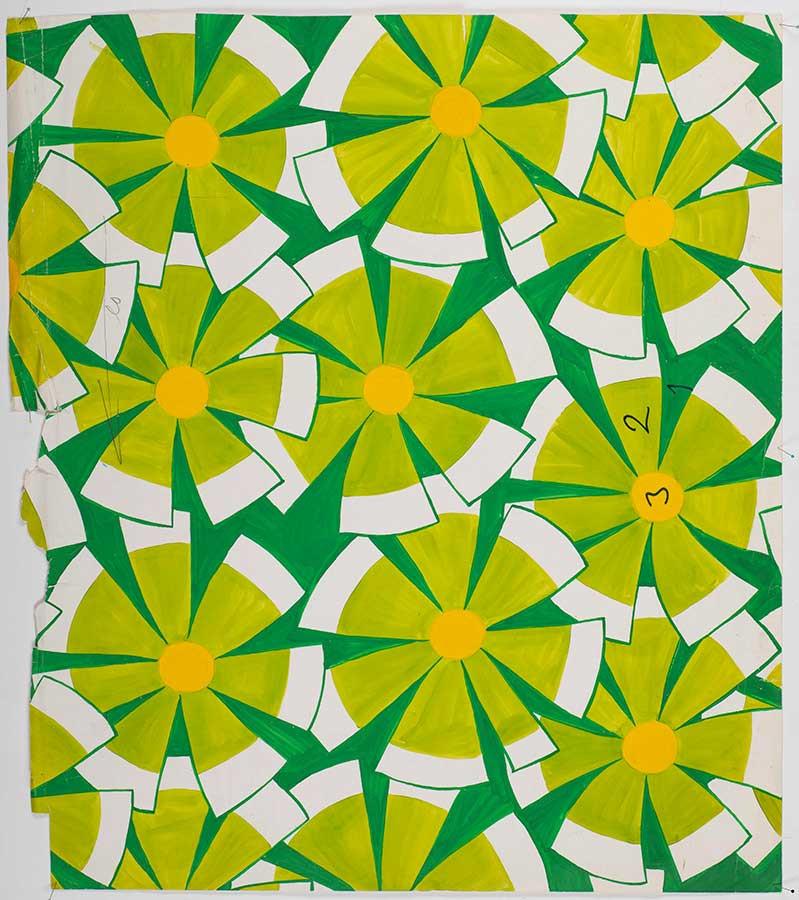 アイニ・ヴァーリ作 オリジナルデザイン原画 「センニ(女性の名前)」 1972年 フォルッサ博物館所蔵