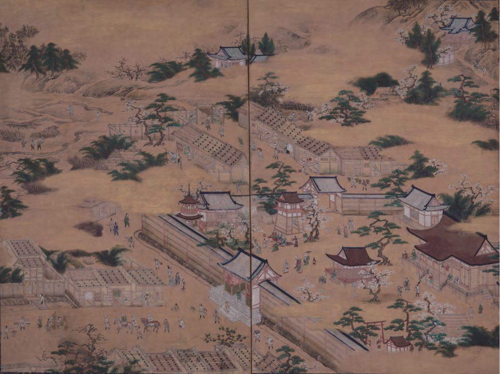 釈迦堂春景図屏風  (京都国立博物館蔵)【後期】