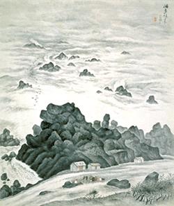 小川芋銭「海島秋来」 昭和7年(1932)茨城県近代美術館蔵