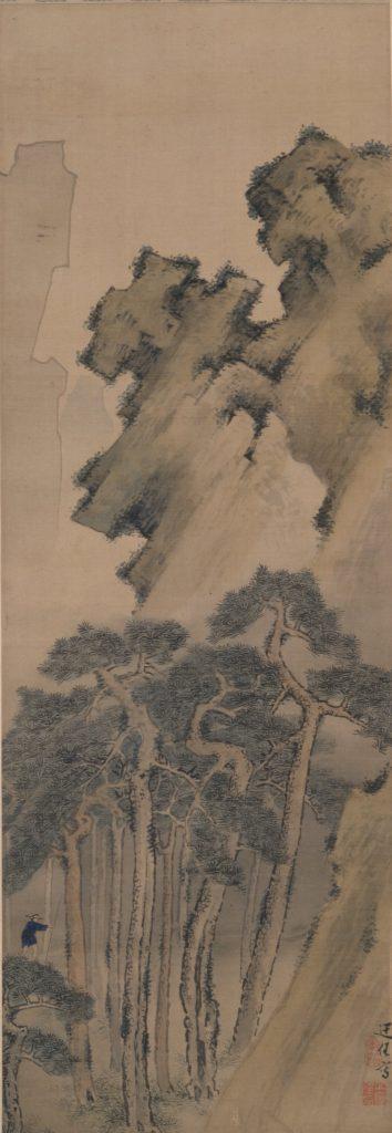 立原杏所《秋山獨歩図》 板橋区立美術館蔵 後期展示