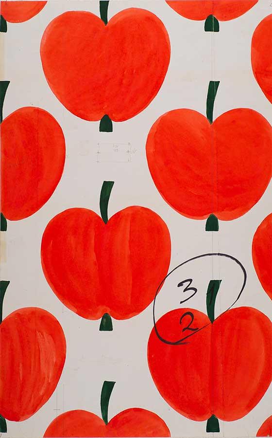 アイニ・ヴァ―リ作 「オンップ(リンゴ)」 原画(1972年) フォルッサ博物館所蔵