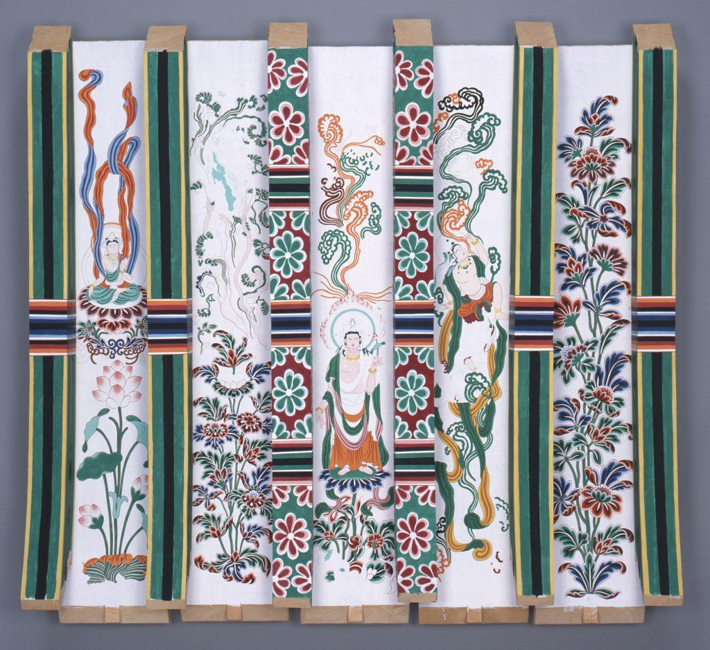 唐招提寺金堂 身舎支輪彩色復原模型 (唐招提寺蔵)※部分展示
