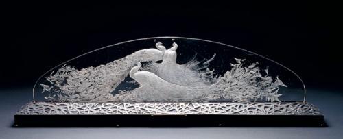 テーブル・センターピース《三羽の孔雀》1920年