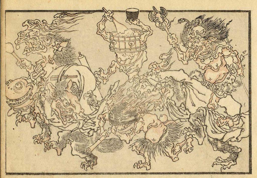 河鍋暁斎『暁斎鈍画』(前期)