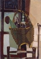 香月泰男《籠の中のとうもろこし》1952年