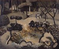 香月泰男《雪庭》1936年