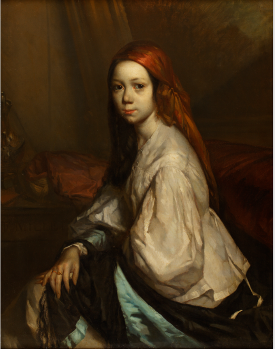 ジャン=フランソワ・ミレー《部屋着姿のポーリーヌ・オノ》1843-44年 トマ=アンリ美術館蔵 ©Musée Thomas-Henry, Cherbourg-en-Cotentin