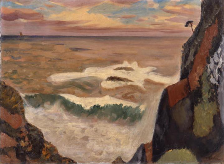 1. 藤島武二《大王岬に打ち寄せる怒涛》1932年 三重県立美術館蔵