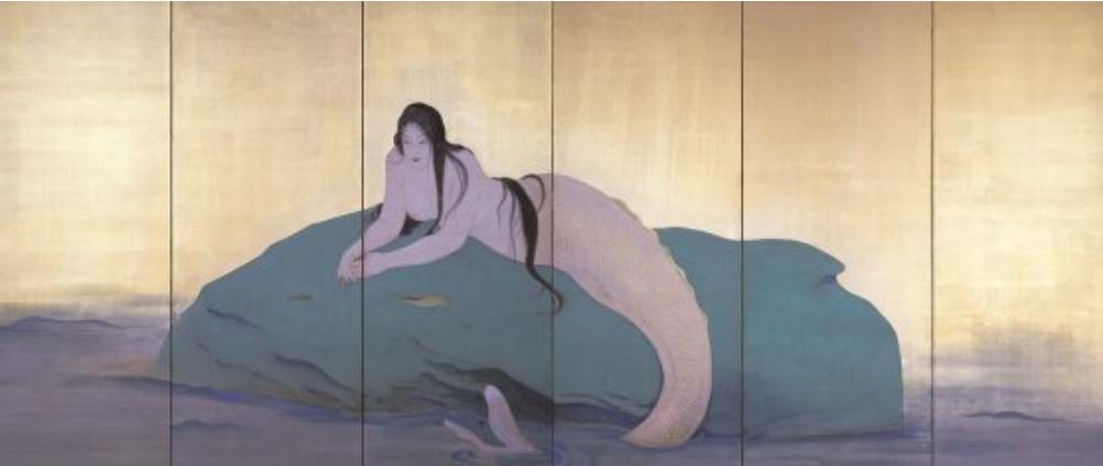 鏑木清方 《妖魚》 1920年 福富太郎コレクション資料室 Ⓒ Akio Nemoto 2021/JAA2100212