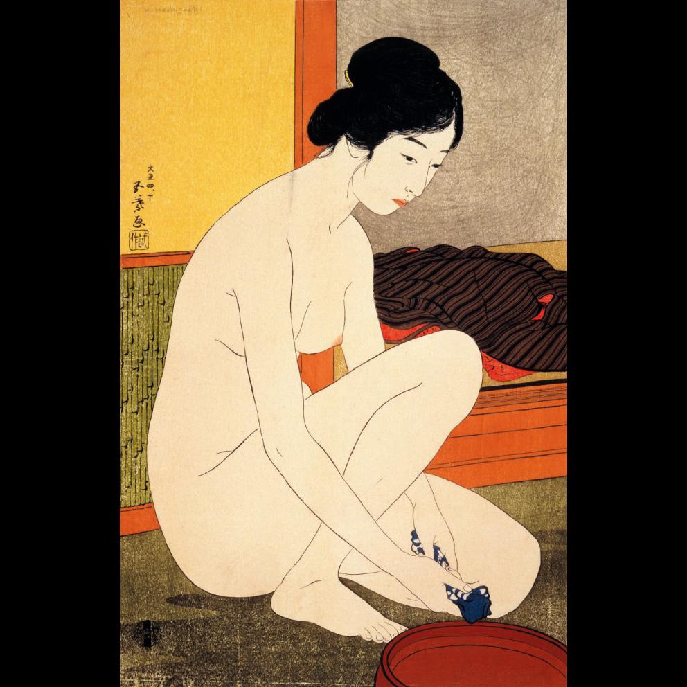 《浴場の女》 橋口五葉 1915(大正4)年