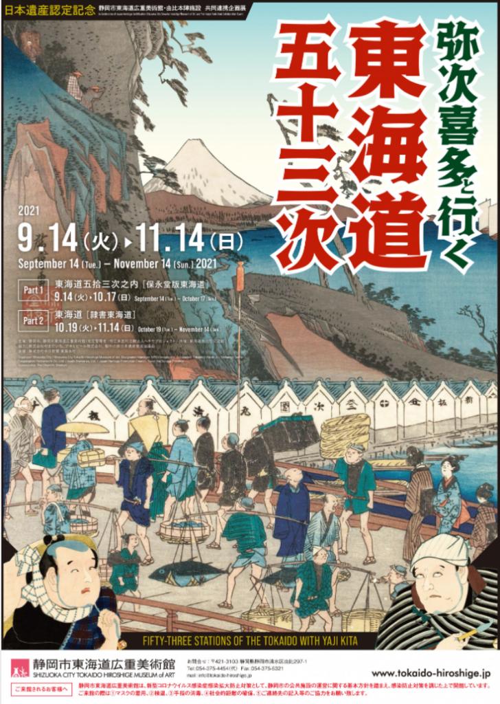 「弥次喜多と行く 東海道五十三次」静岡市東海道広重美術館