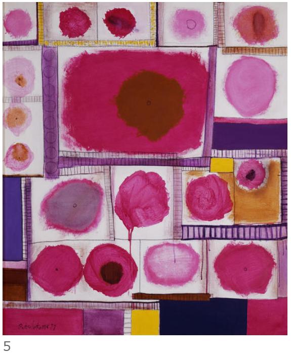 5. 猪熊弦一郎《ピンク・丸・角》1977年 丸亀市猪熊弦一郎現代美術館蔵