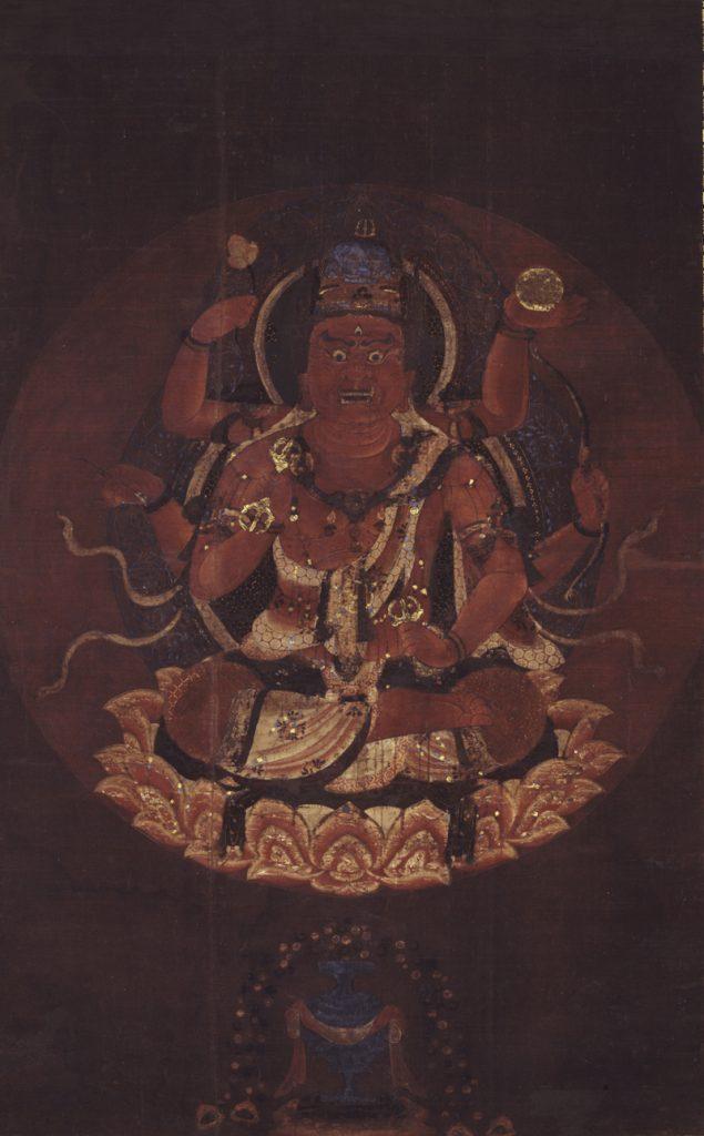 重要文化財 愛染明王像 平安後期