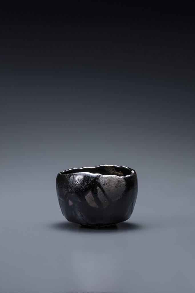 黒樂茶碗 銘 夜渡海 2007年