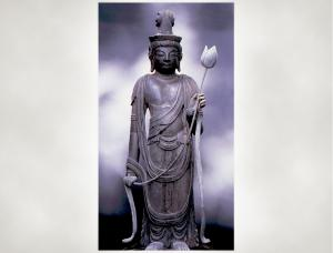 木造十一面観音立像(個人所蔵、県指定文化財)